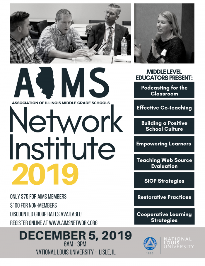2019 Network Institute flyer with sessions